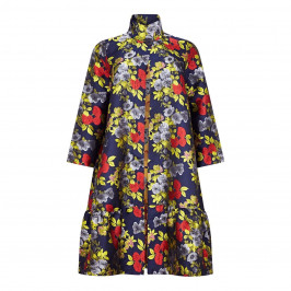 ALEMBIKA JACQUARD FLORAL COAT  - Plus Size Collection