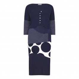 ALEMBIKA DRESS AND CARDIGAN OUTFIT NAVY - Plus Size Collection