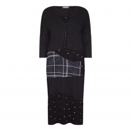 ALEMBIKA DRESS AND CARDIGAN OUTFIT BLACK - Plus Size Collection