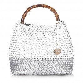 Alex white plaited shopper BAG - Plus Size Collection