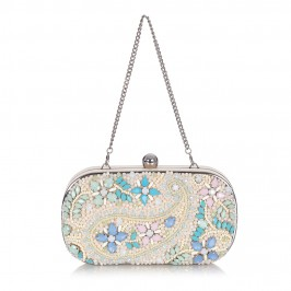 ALEX MAX jewel encrusted nude CLUTCH - Plus Size Collection