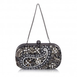 ALEX MAX jewel encrusted black CLUTCH - Plus Size Collection