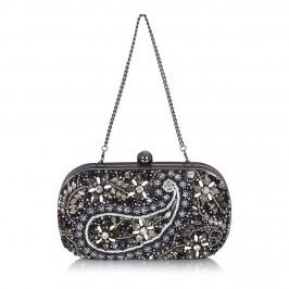 ALEX MAX jewel encrusted black CLUTCH - Plus Size Collection