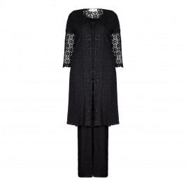 ANN BALON black lace Jacket, top & trousers outfit - Plus Size Collection