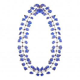 Annemieke Broenink cobalt lace NECKLACE - Plus Size Collection