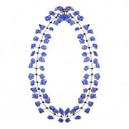 Annemieke Broenink cobalt lace NECKLACE - Plus Size Collection