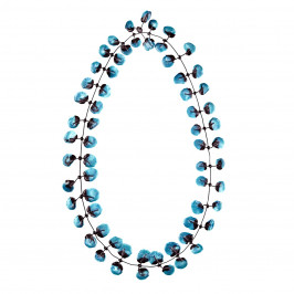 Annemieke Broenink blue poppy NECKLACE - Plus Size Collection