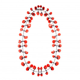 Annemieke Broenink red poppy NECKLACE - Plus Size Collection