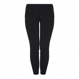 APRICO black front seam LEGGINGS - Plus Size Collection