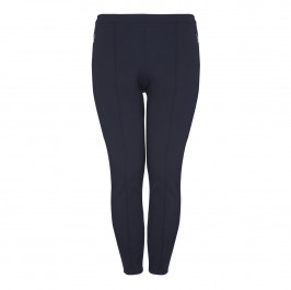 APRICO NAVY front seam leggings - Plus Size Collection