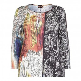 APRICO abstract paisley print TOP - Plus Size Collection