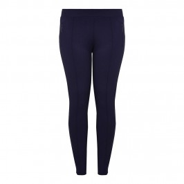 Aprico Front Seam Navy Legging - Plus Size Collection