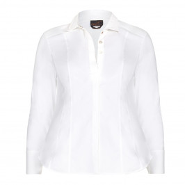 Ashley Graham x Marina Rinaldi fitted cotton shirt