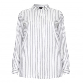 Marina Rinaldi charcoal stripe silk SHIRT - Plus Size Collection