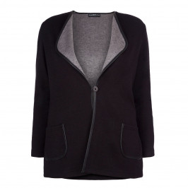 BEIGE LABEL BLACK KNITTED JACKET - Plus Size Collection