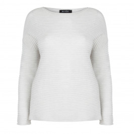 BEIGE LABEL WAX RIBBED KNITTED Tunic  - Plus Size Collection