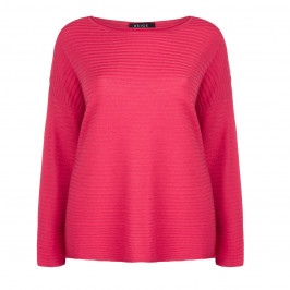 BEIGE LABEL CORAL RIBBED KNITTED TUNIC - Plus Size Collection