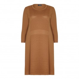 beige terracotta knitted DRESS - Plus Size Collection