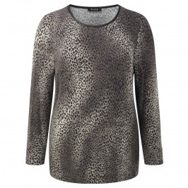 Beige animal print TOP - Plus Size Collection
