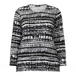 BEIGE LABEL BLACK PRINT TOP - Plus Size Collection