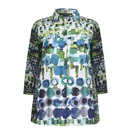 Marina Rinaldi abstract print cotton SHIRT - Plus Size Collection