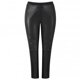 YOEK LEATHER FRONT LEGGINGS - Plus Size Collection