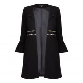 YOEK BLACK LONG JACKET BELL CUFF - Plus Size Collection