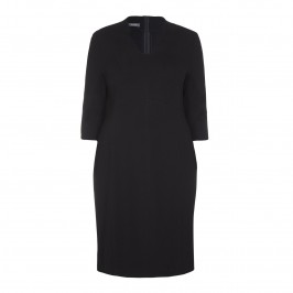 BASLER notch neck black DRESS - Plus Size Collection