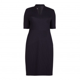 BASLER navy pinstripe DRESS - Plus Size Collection