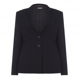 BASLER BLACK BLAZER WITH PLEAT BACK DETAIL - Plus Size Collection