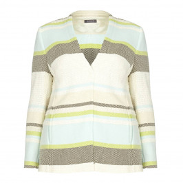 BASLER blue striped JACKET - Plus Size Collection
