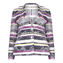 BASLER textured floral & striped JACKET - Plus Size Collection