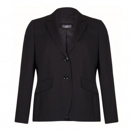 Basler black pure wool suiting jacket - Plus Size Collection