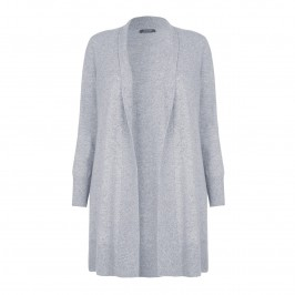 BASLER LONG pure cashmere grey CARDIGAN - Plus Size Collection