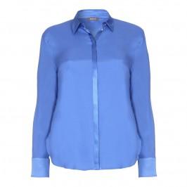 BASLER cobalt blue silk SHIRT - Plus Size Collection
