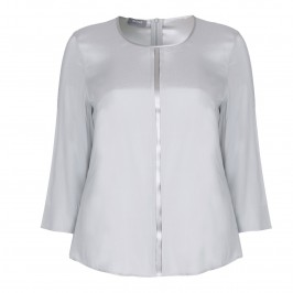 BASLER dove grey silk TOP - Plus Size Collection