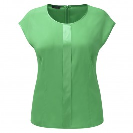 Basler Emerald Green silk stretch TOP - Plus Size Collection