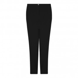 BASLER BLACK STRAIGHT LEG SUITING TROUSERS - Plus Size Collection