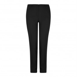 Basler black pure wool suiting trousers - Plus Size Collection