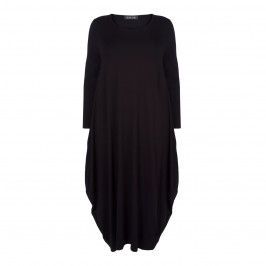 BEIGE LABEL BLACK LAGENLOOK DRESS - Plus Size Collection