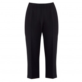 BEIGE PULL ON CULOTTE BLACK - Plus Size Collection