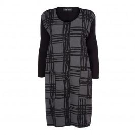BEIGE LABEL JACQUARD FRONT COAT - Plus Size Collection