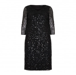 BEIGE label black sequinned DRESS - Plus Size Collection