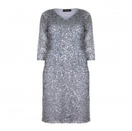 BEIGE label blue grey sequinned DRESS - Plus Size Collection
