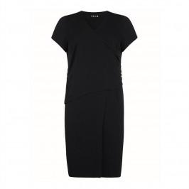 Beige label v-neck ruched black dress - Plus Size Collection