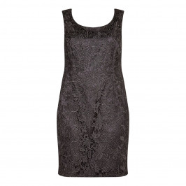 BEIGE label embroidered black DRESS - Plus Size Collection