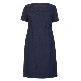 BEIGE LABEL NAVY BRODERIE ANGLAISE DRESS - Plus Size Collection