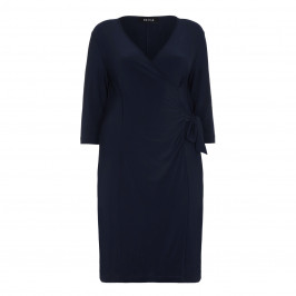 BEIGE label navy fluid jersey DRESS - Plus Size Collection