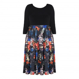 BEIGE LABEL FLORAL PRINT DRESS WITH PLEAT SKIRT  - Plus Size Collection