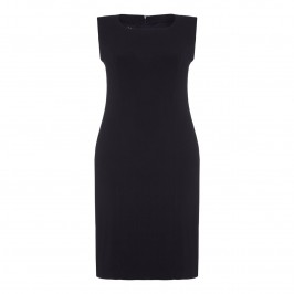 BEIGE jersey sheath DRESS in black - Plus Size Collection